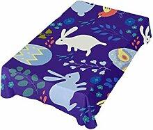 DXG1 Ostern-Tischdecke Hase Ei 137x137 cm für
