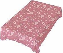 DXG1 Ostern-Tischdecke Hase rosa 137x137 cm für