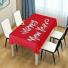 DXG1 Tischdecke für Esstischdecke mit Zitat New