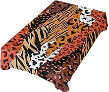 DXG1 Tischdecke mit abstrakter Tierhaut, 137 x 137