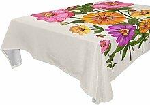 DXG1 Tischdecke mit Blumenmuster, 137 x 182 cm
