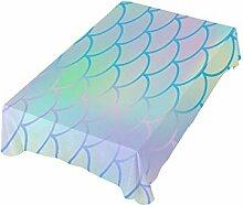 DXG1 Tischdecke mit Fischschuppen-Design, 137 x