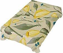 DXG1 Tischdecke mit gelben Tulpen, 137 x 137 cm,