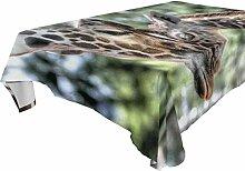 DXG1 Tischdecke mit Giraffen-Motiv, rechteckig,