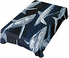 DXG1 Tischdecke mit Hai-Motiv, 137 x 137 cm, für