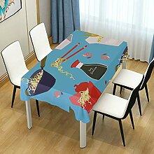 DXG1 Tischdecke mit Katzen-Einhorn, rechteckig,
