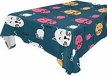 DXG1 Tischdecke mit Katzenmotiv, rechteckig, 137 x