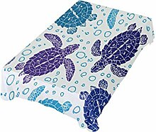 DXG1 Tischdecke mit Meeresschildkröten, 137 x 137