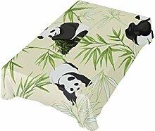 DXG1 Tischdecke mit Panda-Motiv, 137 x 137 cm,