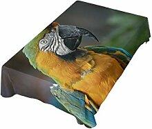 DXG1 Tischdecke mit Papageien-Motiv, 137 x 137 cm