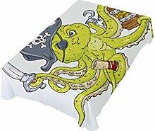 DXG1 Tischdecke mit Piraten-Motiv, 152,4 x 152,4