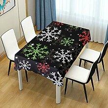 DXG1 Tischdecke mit Schneeflocken-Motiv für