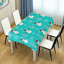 DXG1 Tischdecke mit Schneemann und blauem