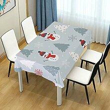 DXG1 Tischdecke mit Schneemann und grauem