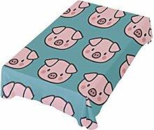 DXG1 Tischdecke mit Schweinchenmotiv, waschbar,