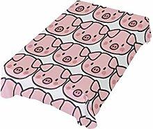 DXG1 Tischdecke mit Schweine-Motiv, 152 x 304 cm