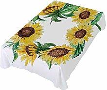 DXG1 Tischdecke mit Sonnenblumen-Motiv, 137 x 137