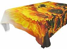 DXG1 Tischdecke mit Sonnenblumen-Motiv,