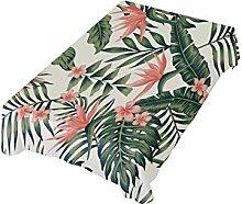 DXG1 Tischdecke mit tropischen Blättern, 54 x 54