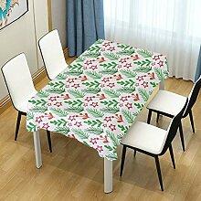 DXG1 Tischdecke mit weihnachtlichem Blattmotiv,