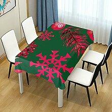 DXG1 Tischdecke mit weihnachtlichem grünem