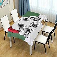 DXG1 Tischdecke mit weihnachtlichem Hund für
