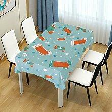 DXG1 Tischdecke mit weihnachtlichem Motiv, für