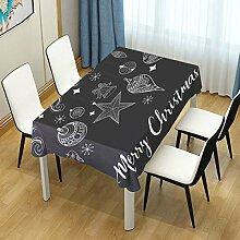 DXG1 Tischdecke mit weihnachtlichem Motiv, Grau