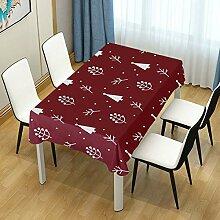 DXG1 Tischdecke mit weihnachtlichem roten