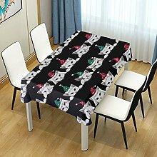 DXG1 Tischdecke mit weihnachtlicher Katze für