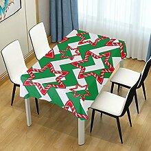 DXG1 Tischdecke mit Weihnachtsstreifen, für
