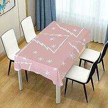 DXG1 Tischdecke Weihnachtsbaum rosa Tischdecke