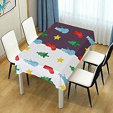DXG1 Weihnachtliche Winter-Tischdecke für