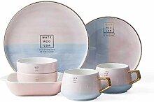 DXL Haushalt Bowl Geschirr Sets, Keramikplatten