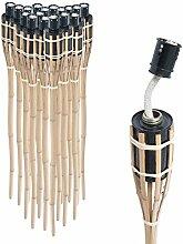 DXP 36 x Bambus Gartenfackel Bambusfackel Garten