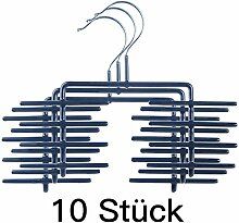 DXP Neu10 Stück Krawattenhalter Krawattenbügel Schwarz (10) QTX-11