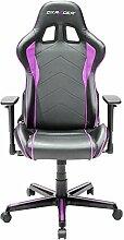 DXracer Oh/FL08/NP–Stuhl mit gepolstertem Sitz, Rückenlehne gepolstert, schwarz, pink, schwarz, rosa, schwarz, PU-Leder)