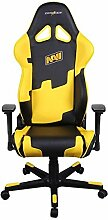 DXRacer OH/RE21/NY/Schiffe Padded Seat Padded Backrest Office/Computer Chair – Office & Computer Chairs (Padded Seat, Padded Backrest, Black, Yellow, Black, Yellow, Faux Leather, Faux Leather)