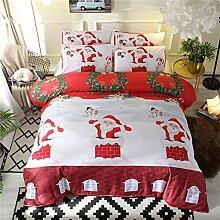 DXSX Weihnachten Bettwäsche Set Weihnachtsmann