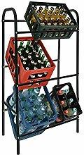 DXXWANG Kastenständer 6 Kisten - schwarz -