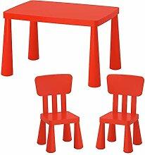 DXXWANG Kindersitzgruppe Kindertisch + 2