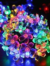 DXZMBDM® Weihnachten orientalischen Kirsche Birne LED Solar Außendekoration ganz über dem Himmelstern-Lampen 4,8 Mio. 20LED , multi color