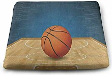 Dy-Home Square Seat Cushions Basketball Sport Ball