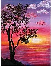 Dybjq Diamanten Stickerei Landschaft Baum