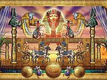 Dybjq DIY 5D Diamantstickerei Ägypten Pharao
