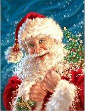 Dybjq DIY 5D Diamantstickerei Santa Claus Bild