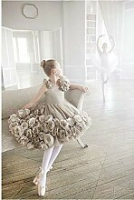 Dybjq DIY Diamant Stickerei Ballett Mädchen Drill