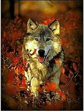 Dybjq Handarbeiten Diamantstickerei Wolf Tierbild