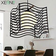 DYBLING LED Leuchter Einfache, moderne Schlafzimmer Flur bar Pendelleuchten Deckenleuchte drei Leiter Glas Eisen, 500*250*255mm