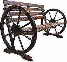DYC Wagenrad aus Holz mit 2 Sitzplätzen für